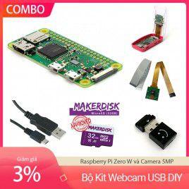 Bộ Kit Webcam USB DIY - Raspberry Pi Zero W và Camera 5MP