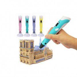12V 3D Pen V2 with PLA Filament & Adapter - Blue