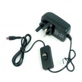5V 1.5A Adapter micro B c/w Switch (UK Plug)