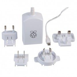 Raspberry Pi Universal Power Supply 5.1V 2.5A micro B
