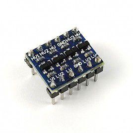 4-Channel Logic Level Shifter - Pre-soldered Headers