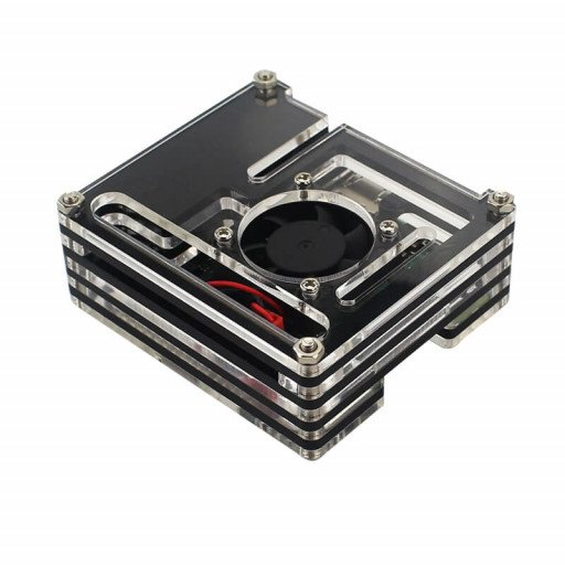 Acrylic Case for Raspberry Pi 3A+ with Fan
