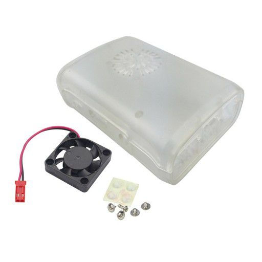 Raspberry PI Case with Fan (Transparent)