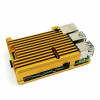 Fanless Armor Case for Raspberry Pi 4B - Gold