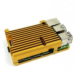 Fanless Armor Case for Raspberry Pi 4B - Gold