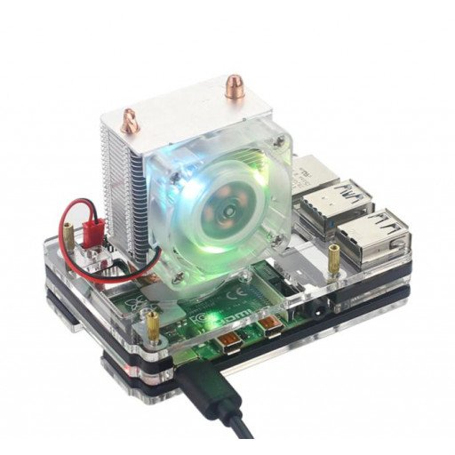 ICE Tower CPU Cooling Fan for RPI4 with Case