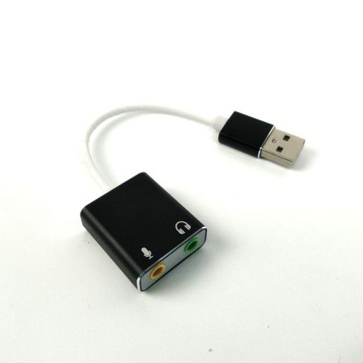 USB to Dual Audio Adapter - 3.5mm Mic and Speaker