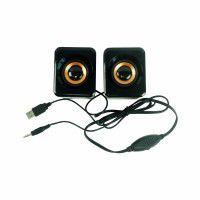 6W Stereo USB Powered 3.5mm Jack Speaker-Black