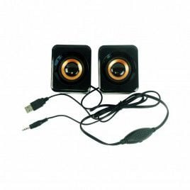 6W Stereo USB Powered 3.5mm Jack Speaker-Black