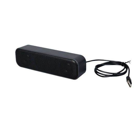 6W Stereo USB Power and Signal Speaker-Black