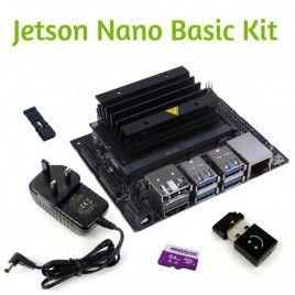 Jetson Nano Basic Kit - 64GB MicroSD & Power Adapter