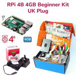 Raspberry Pi 4B 4GB Beginner Kit-UK Plug
