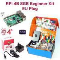 Raspberry Pi 4B 8GB Beginner Kit-EU Plug