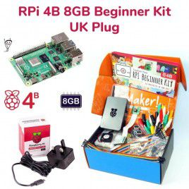 Raspberry Pi 4B 8GB Beginner Kit-UK Plug