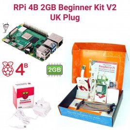 Raspberry Pi 4B 2GB Beginner Kit V2-UK Plug