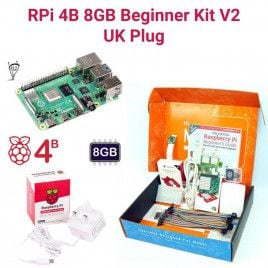 Raspberry Pi 4B 8GB Beginner Kit V2-UK Plug