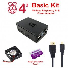 Raspberry Pi 4 Model B Basic Kit w/o RPi & Adapter