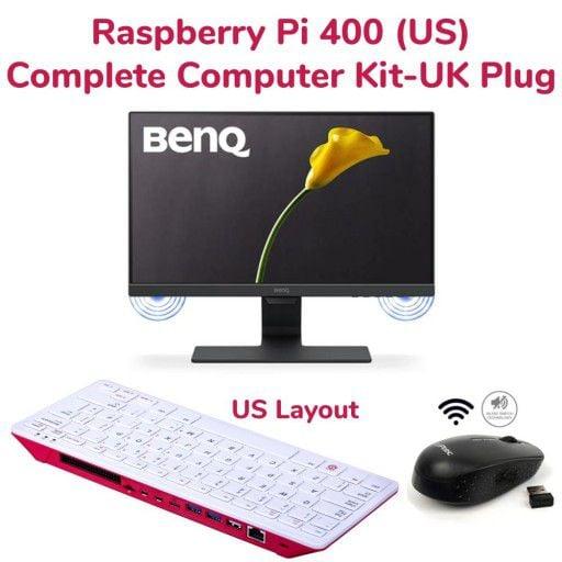 RPi 400 Complete Computer Kit 1-US Layout & UK Power Plug