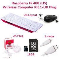 RPi 400 Wireless Computer Kit 1-US Layout & UK Power Plug