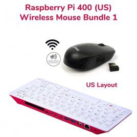Raspberry Pi 400 Wireless Mouse Bundle 1-US Layout