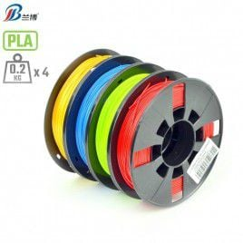 4 x 200g 1.75mm PLA Bundle (Gold, Blue, Green, Red)