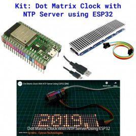 Kit - Dot Matrix Clock with NTP Server using ESP32
