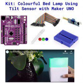 Kit - Colourful Bed Lamp Using Tilt Sensor with Maker UNO