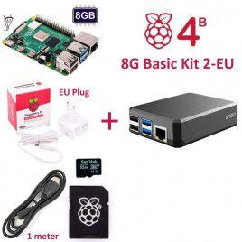 RPi 4B 8G Basic Kit 2-EU Plug(w RPI4B8G)