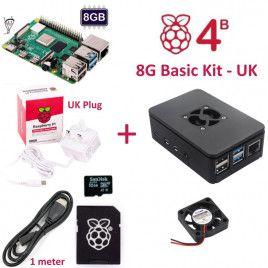 RPi 4B 8G Basic Kit-UK Plug(w RPI4B8G)
