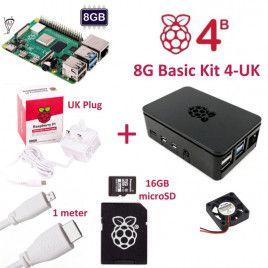 RPi 4B 8G Basic Kit 4-UK Plug(w RPI4B8G)