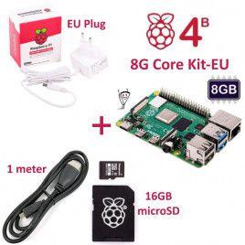 RPi 4B 8G Core Kit-EU Plug(w RPI4B8G)
