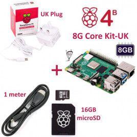 RPi 4B 8G Core Kit-UK Plug(w RPI4B8G)