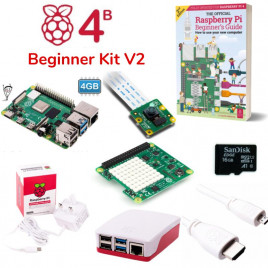 Raspberry Pi 4B Beginner Kit V2 (w RPi 4B4G)-UK Plug