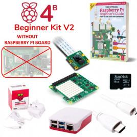 Raspberry Pi 4B Beginner Kit V2 (w/o RPi)-UK Plug