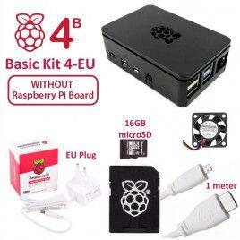 RPi 4B Basic Kit 4-EU Plug (w/o Raspberry Pi)