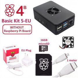 RPi 4B Basic Kit 5-EU Plug (w/o Raspberry Pi)