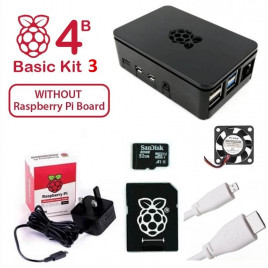 Raspberry Pi 4B Basic Kit 3 UK Plug (w/o Raspberry Pi)