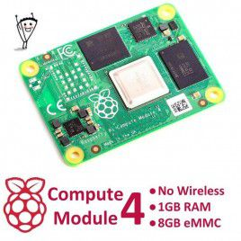 RPi Compute Module 4 - Không Wireless - 1GB RAM - 8GB eMMC