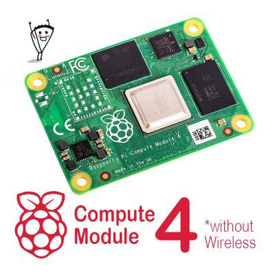 Raspberry Pi CM4 without Wireless - Pick RAM and eMMC