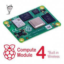Raspberry Pi CM4 with Wireless - Pick RAM and eMMC