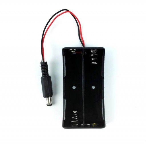 2x18650 Battery Holder with DC Jack