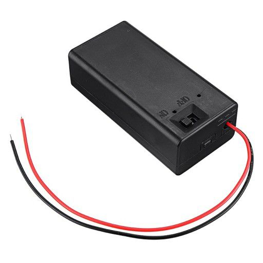 9V Battery Holder Cover with switch