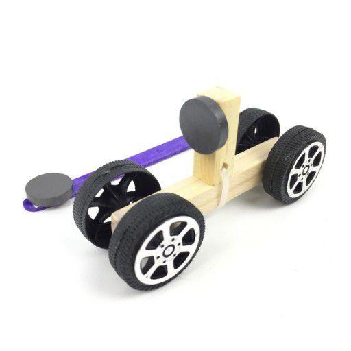 DIY Wooden Magnetic Force Car STEM Kit