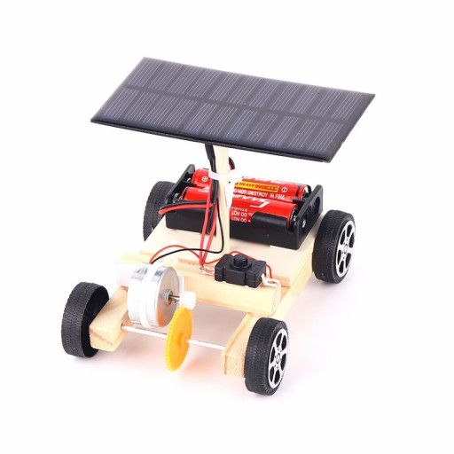 DIY Solar Powered Car (w Batteries)