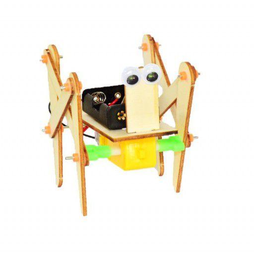 4 Legged Wooden DIY Walking Toy Robot (w Batteries)