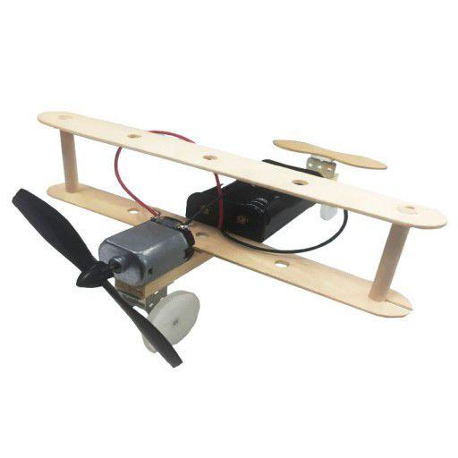 DIY Wooden Plane DC Motor Propeller (w/o Battery)