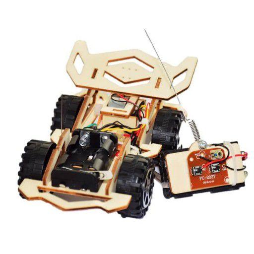 DIY Wooden Remote Car (w/ Batteries)