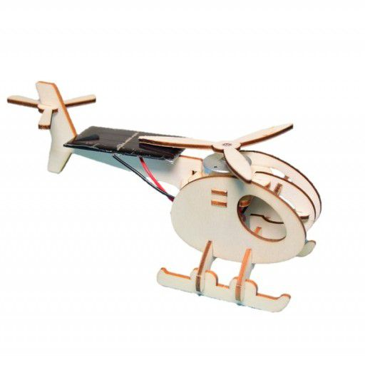 DIY Wooden Solar Powered Helicopter