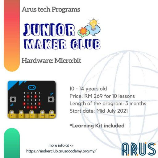 E-Course Junior Maker Club 10 lessons with Learning Kit
