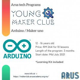 E-Course Young Maker Club 10 lessons with Learning Kit